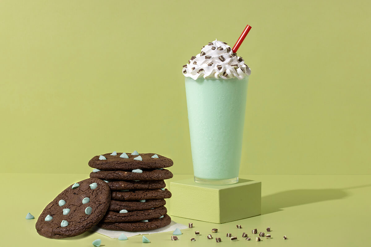 Lucky Leprechaun Blender and Chocolate Mint Chip Cookies