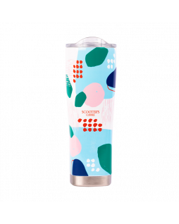 20oz Scooter's Coffee Abstract Tumbler with colorful shapes