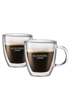 Double-Wall Glass Mug Set (10oz)