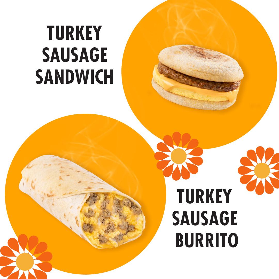 Turkey Sausage Sandwich & Burrito
